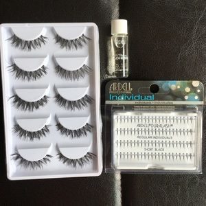 Ardell Eyelash Sets and Individuals with Lash Glue